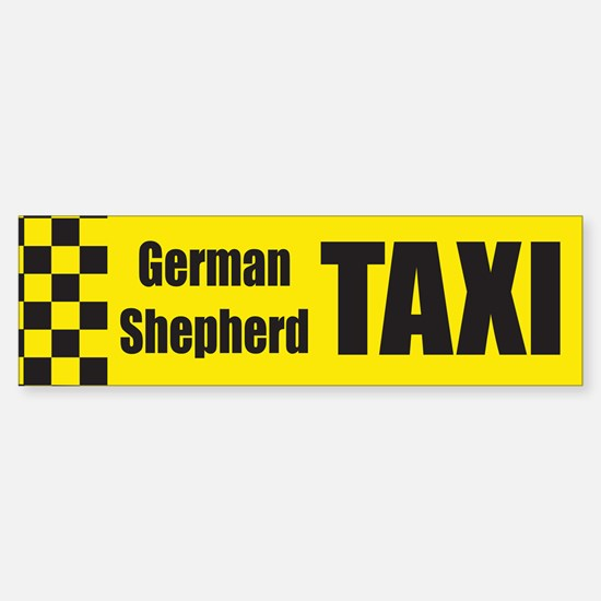 German Shepard Bumper Bumper Bumper Sticker