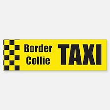Border Collie Taxi Bumper Bumper Bumper Sticker