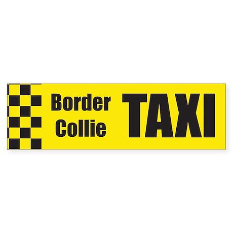 Border Collie Taxi Bumper Sticker