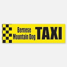 Bernese Mountain Dog Taxi Bumper Bumper Bumper Sticker