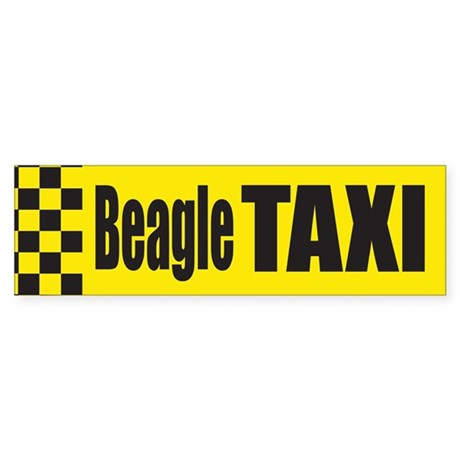 Beagle Taxi Bumper Sticker