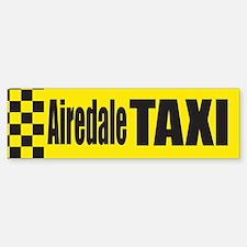 Airedale Taxi Bumper Bumper Bumper Sticker