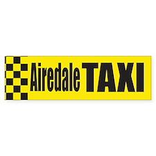 Airedale Taxi Bumper Bumper Sticker