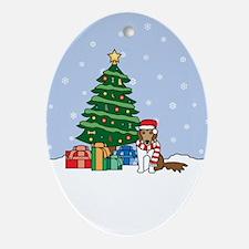 Shetland Sheepdog Christmas Oval Ornament
