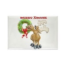 Merry Xmoose Rectangle Magnet