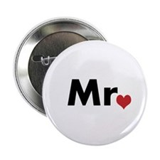 "Mr and Mrs matching hats 2.25"" Button"