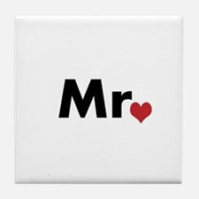 Mr and Mrs matching hats Tile Coaster