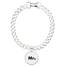 Mr and Mrs matching hats Charm Bracelet, One Charm
