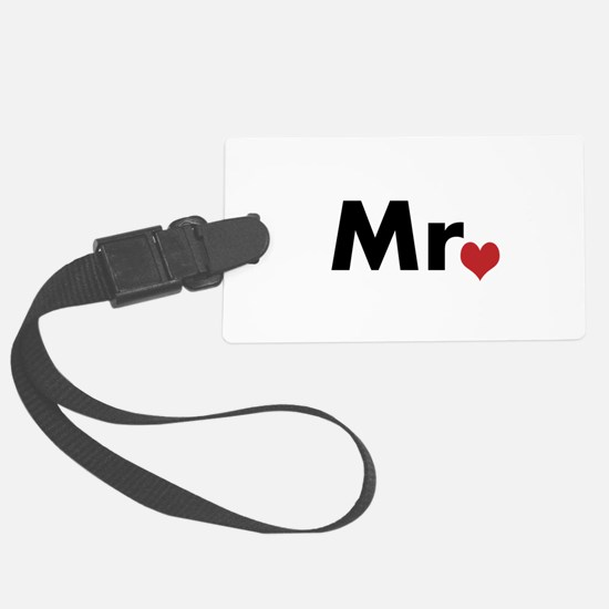 Mr and Mrs matching hats Luggage Tag