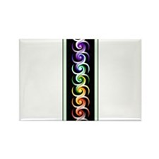 Chakra Spirals with labels Rectangle Magnet