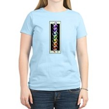 Chakra Spirals with labels T-Shirt