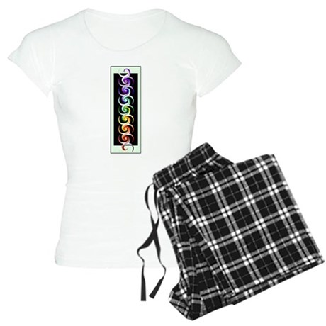 Chakra Spirals with labels Women's Light Pajamas