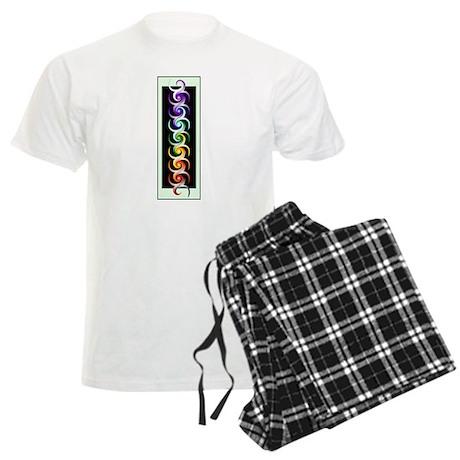 Chakra Spirals with labels Men's Light Pajamas