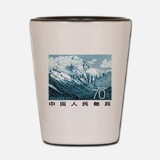 1983 China Mount Everest Postage Stamp Shot Glass