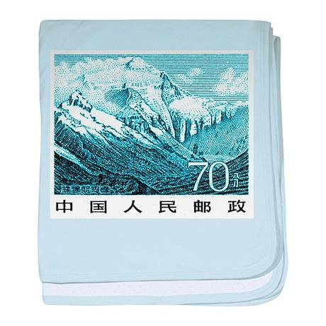 1983 China Mount Everest Postage Stamp baby blanke