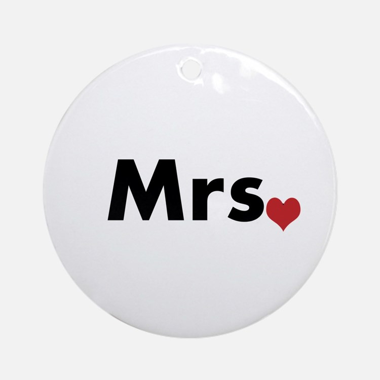 Mr and Mrs Ornament (Round)