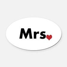Mr and Mrs Oval Car Magnet