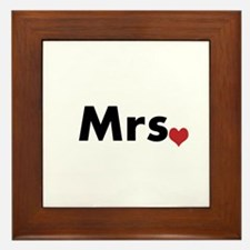 Mr and Mrs Framed Tile
