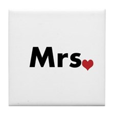 Mr and Mrs Tile Coaster