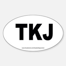 TKJ (Teakettle Junction) white oval sticker!