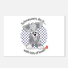 Schnauzers Do It Postcards (Package of 8)
