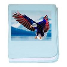 All American Eagle baby blanket