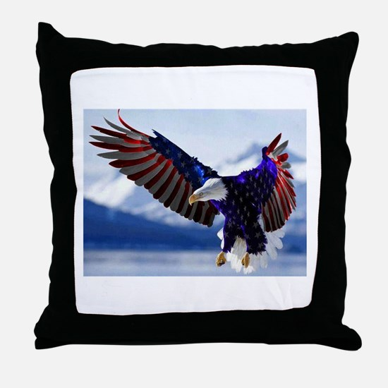 All American Eagle Throw Pillow