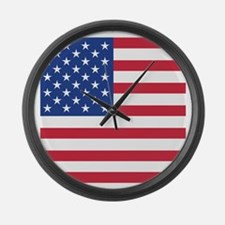 Cute Stars and stripes Large Wall Clock