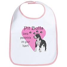 Pit Bulls Pawprints Bib