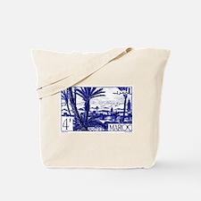 1947 Morocco Marrakesh Postage Stamp Tote Bag