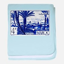 1947 Morocco Marrakesh Postage Stamp baby blanket