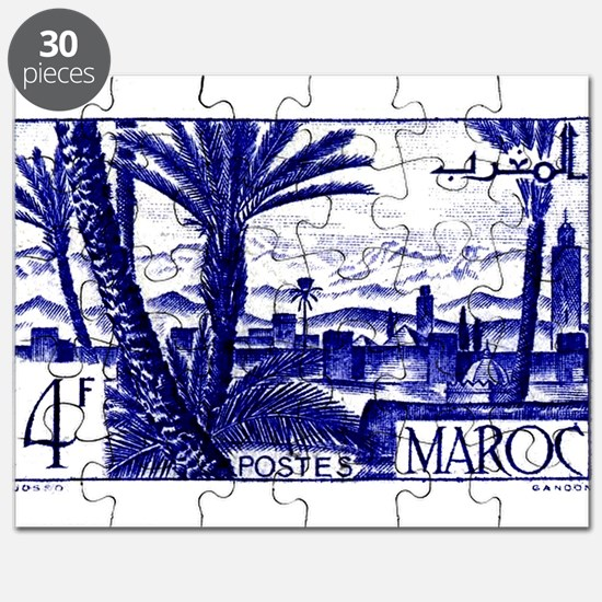 1947 Morocco Marrakesh Postage Stamp Puzzle