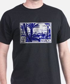 1947 Morocco Marrakesh Postage Stamp T-Shirt