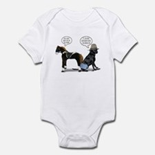 Black Lab Cowboy Infant Bodysuit