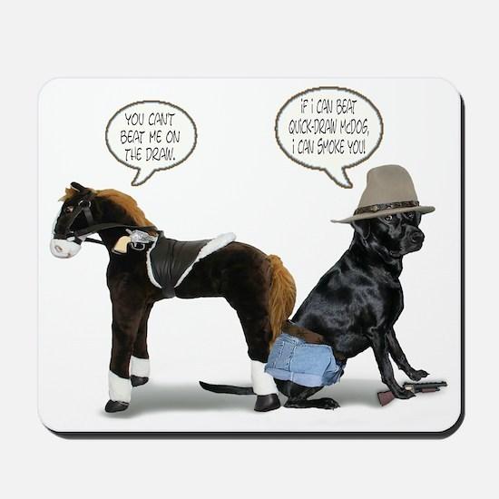 Black Lab Cowboy Mousepad