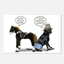Black Lab Cowboy Postcards (Package of 8)