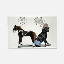 Black Lab Cowboy Rectangle Magnet