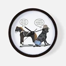 Black Lab Cowboy Wall Clock