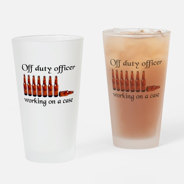 Cute Funny police Drinking Glass