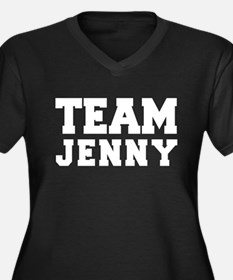 TEAM JENNY Women's Plus Size V-Neck Dark T-Shirt