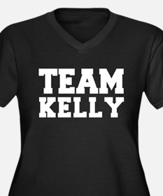 TEAM KELLY Women's Plus Size V-Neck Dark T-Shirt