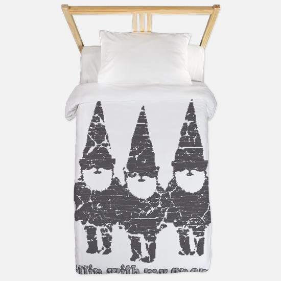 Chillin with my gnomies Twin Duvet