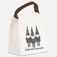 Chillin with my gnomies Canvas Lunch Bag