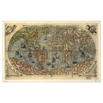 16th century world map Poster