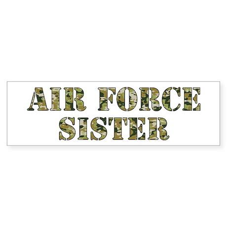 Camo Sister Bumper Sticker