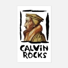 Calvin Rocks Rectangle Decal