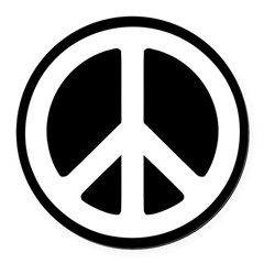 World Peace Round Car Magnet