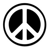 World peace Round Car Magnets