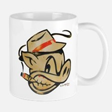 Nicotine Stained Smokin Pig by Elliott Mattice Small Small Mug