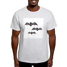 Bats Ash Grey T-Shirt
